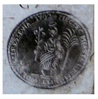 Pieczęć miejska «MIASTO WOLNE SZERESZÓW» z wizerunkiem Archanioła Gabryela na dokumencie z 1806 roku