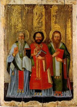 «Wybrani Święci», druga połowa XVIII w., zabrany podczas VI ekspedycji Narodowego Muzeum Dzieł Sztuki w 1963 r. w cerkwi p.w. Narodzenia Bogorodzicy w Szereszewie