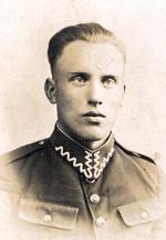 Józef Pakulnicki – ojciec Bernarda – jako żołnierz jednostki wojskowej w Wilnie.