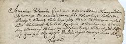 Początek inwentarza majątkowego z 1754 r., sporządzonego przez Franciszka Uzłowskiego