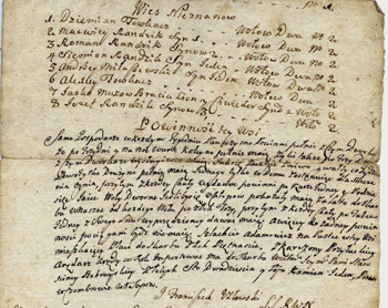 Spis włościan i powinności pańszczyźniane z 1754 r