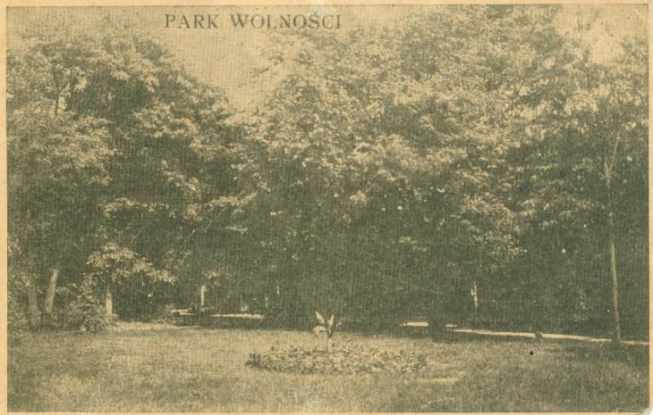 Pocztówka początku XX wieku z archiwum Aleksandra Paszczuka. Park Wolności