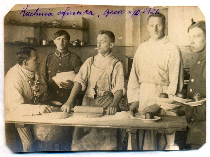 Kuchnia oficerska. Brześć, grudzień 1921 r.