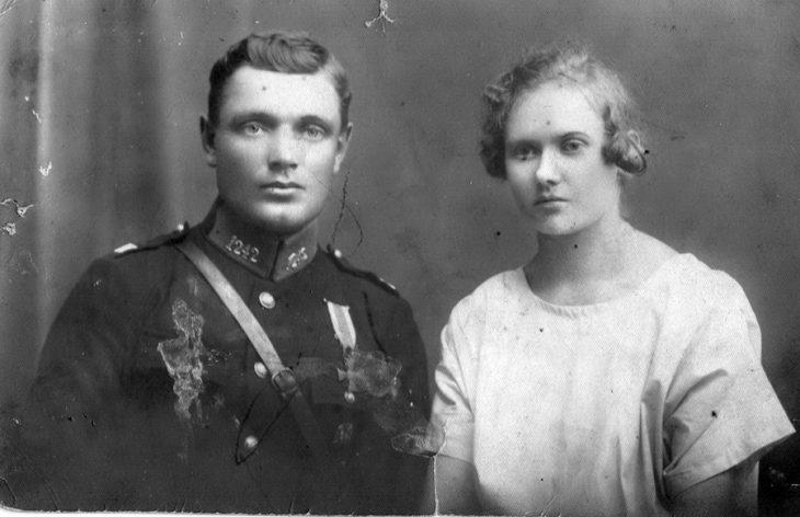 Jan Gadomski z żoną Józefą
