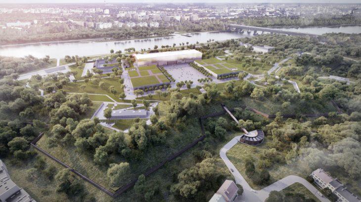 Wizualizacja - zespół muzealny na terenie Cytadeli Warszawskiej, projekt pracowni WXCA