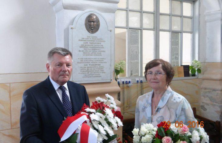Konsul Ambasady RP w Rydze p. Wojciech Kraj i autorka artykuła