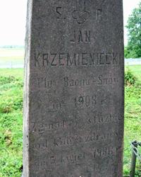Nagrobek plutonowego Jana Krzemienieckiego