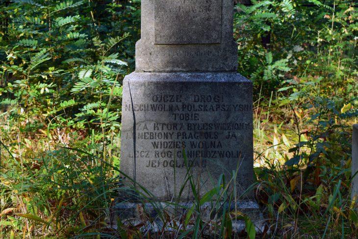 Cmentarz w Domaczewo. Nagrobna inskrypcja