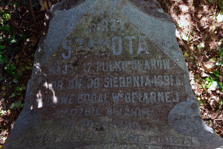Groby oficerów WP w Małorycie (także poniżej)