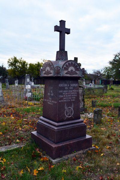 Cmentarz w Pińsku. Grób Konstancji Skirmunt