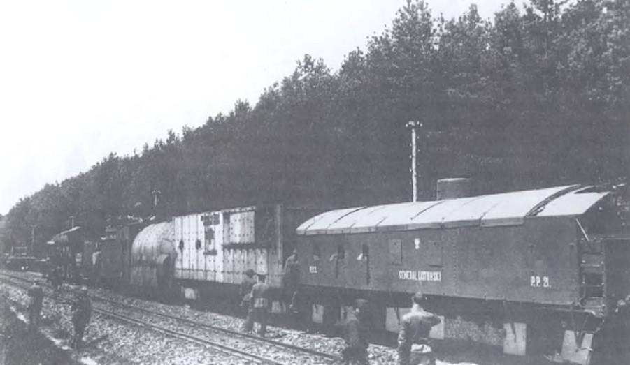 Pociągi pancerne biorące udział w walkach o Brześć podczas wojny polskobolszewickiej 1920 roku